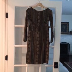 Brown Silk Dress
